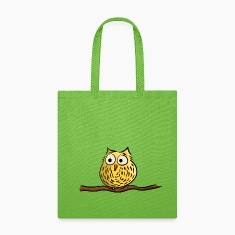 Owl on branch Bags & backpacks