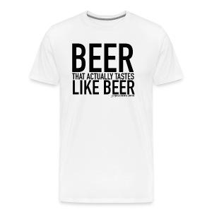 JACTABOSS - BEER THAT ACTUALLY TASTES LIKE BEER - Men's Premium T-Shirt