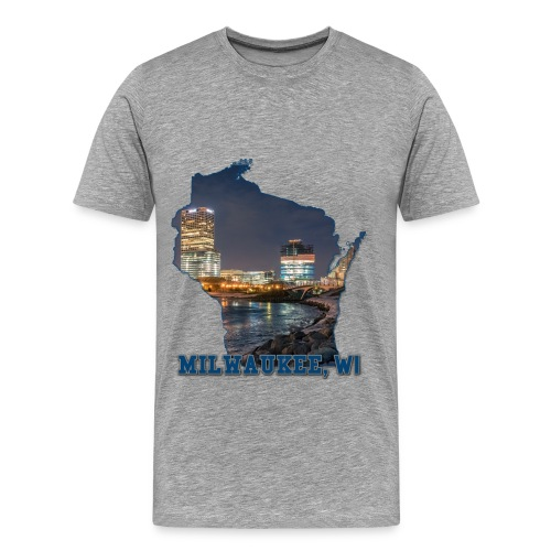 Downtown Milwaukee Winter - Men's Premium T-Shirt