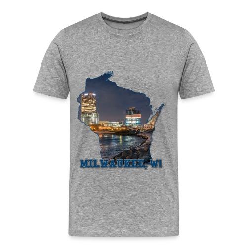 Downtown Milwaukee Winter - Men's Premium T-Shirt