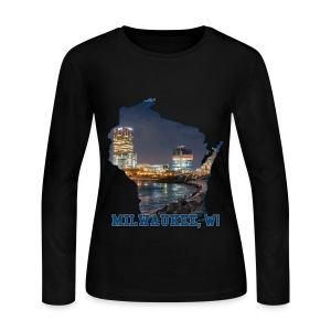 Downtown Milwaukee Winter - Women's Long Sleeve Jersey T-Shirt