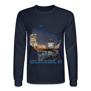 Downtown Milwaukee Winter - Men's Long Sleeve T-Shirt