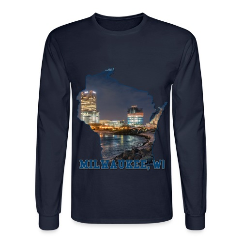 Downtown Milwaukee Winter - Men's Long Sleeve T-Shirt