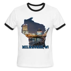 Downtown Milwaukee Winter - Men's Ringer T-Shirt
