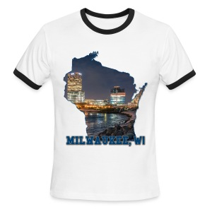 Downtown Milwaukee Winter - Men's Ringer T-Shirt