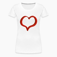red heart Women's T-Shirts