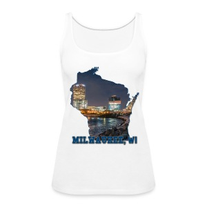 Downtown Milwaukee Winter - Women's Premium Tank Top