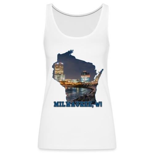 Downtown Milwaukee Winter - Women's Premium Tank Top