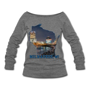Downtown Milwaukee Winter - Women's Wideneck Sweatshirt