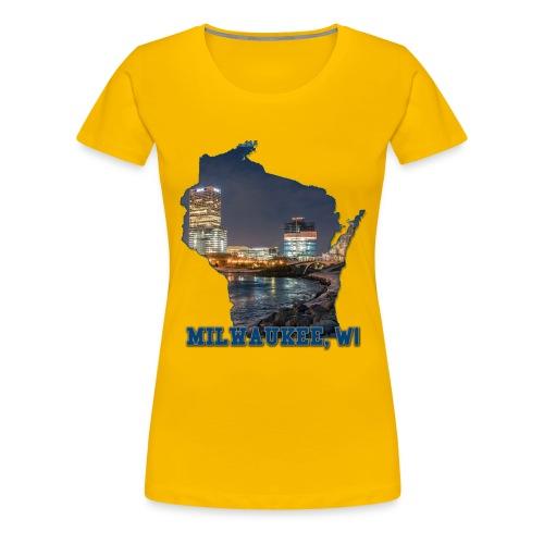 Downtown Milwaukee Winter - Women's Premium T-Shirt