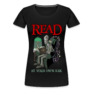 T-Shirts ~ Women's Premium T-Shirt ~ Read At Your Own Risk