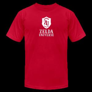 Zelda Universe Logo Men's Tee (Goron Red) - Men's Fine Jersey T-Shirt