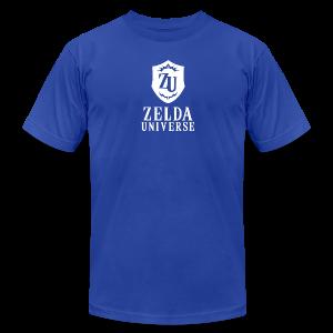 Zelda Universe Logo Men's Tee (Zora Blue) - Men's Fine Jersey T-Shirt