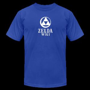 Zelda Wiki Logo Men's Tee (Zora Blue) - Men's Fine Jersey T-Shirt