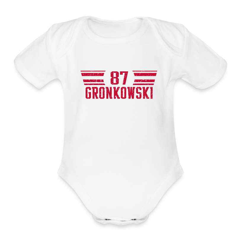 gronkred - Short Sleeve Baby Bodysuit