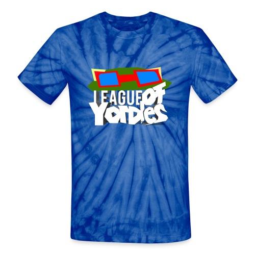 League of Yordles™ Official Tie Dye Tee (BLUE RASPBERRY) [Unisex] - Unisex Tie Dye T-Shirt