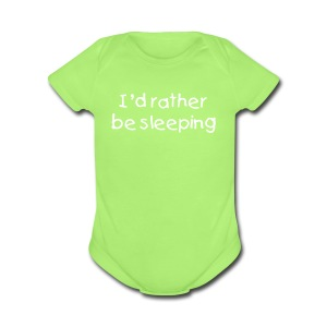Baby Sleeping - Short Sleeve Baby Bodysuit