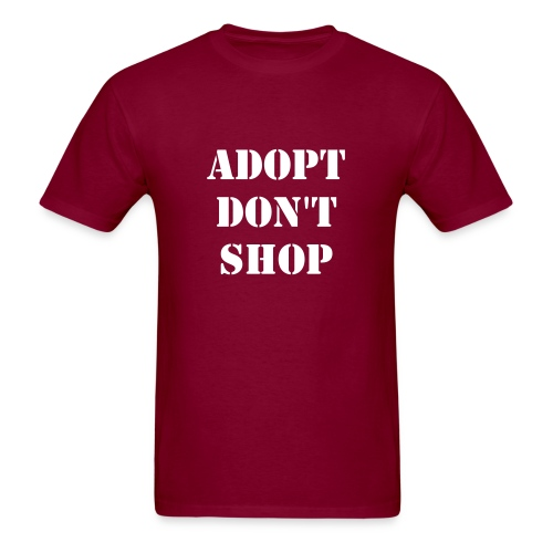 Men's adopt don't shop t-shirt - Men's T-Shirt