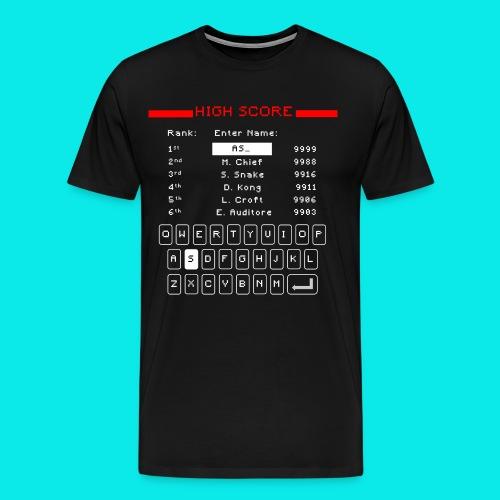 Retro High Score - Men's Premium T-Shirt