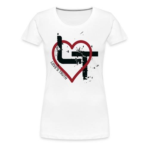 Women's Premium T-Shirt - Distressed Logo - Women's Premium T-Shirt