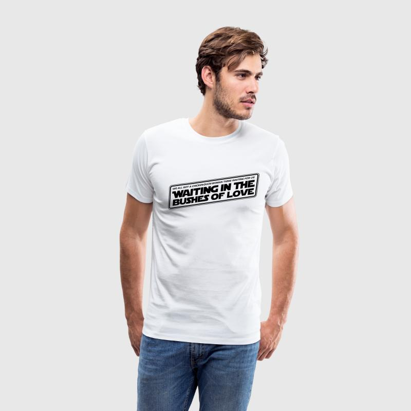 Bushes Of Love - White - Men's Premium T-Shirt