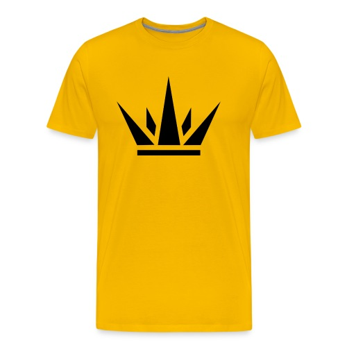 Royals Spiked Crown - Yellow - Men's Premium T-Shirt
