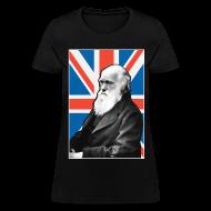 Women's T-Shirts ~ Women's T-Shirt ~ Charles Darwin Union Jack t shirt