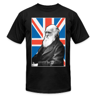 T-Shirts ~ Men's T-Shirt by American Apparel ~ Charles Darwin Union Jack t shirt