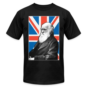 Charles Darwin Union Jack t shirt - Men's T-Shirt by American Apparel