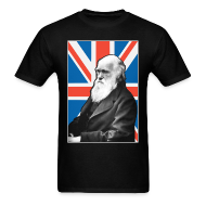 T-Shirts ~ Men's T-Shirt ~ Charles Darwin Union Jack t shirt