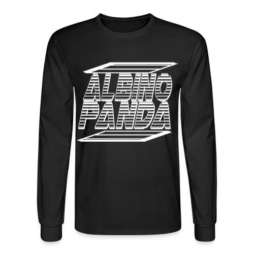 Albino Panda Logo Long Sleeve Tee (Black) - Men's Long Sleeve T-Shirt