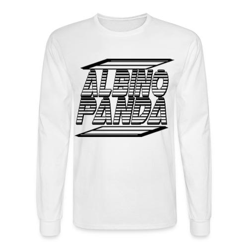 Albino Panda Logo Long Sleeve Tee (White) - Men's Long Sleeve T-Shirt