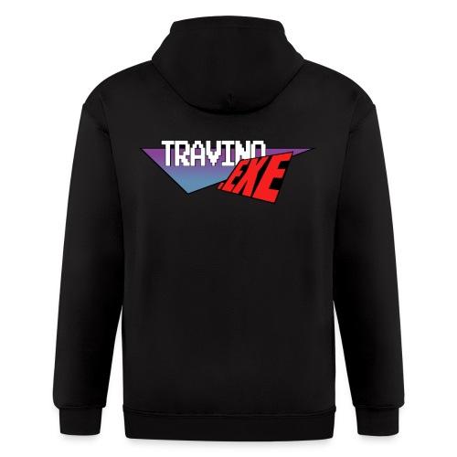 Travino.EXE Back Logo Hoodie  - Men's Zip Hoodie