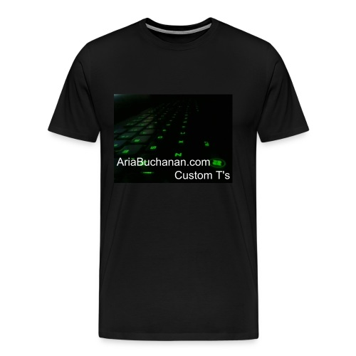 Green Lights KeyBoard Web T - Men's Premium T-Shirt