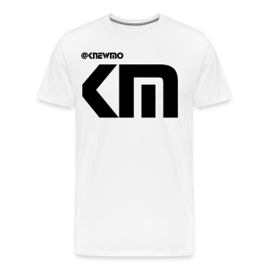 KnewMo T-Shirt White Logo - Men's Premium T-Shirt