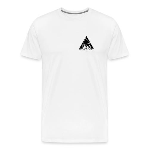 We3 white corner logo tee - Men's Premium T-Shirt