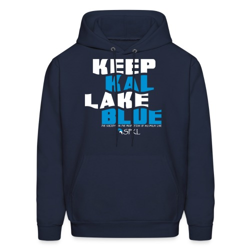 Keep Kal Lake Blue, Men's Navy Hoodie - Men's Hoodie