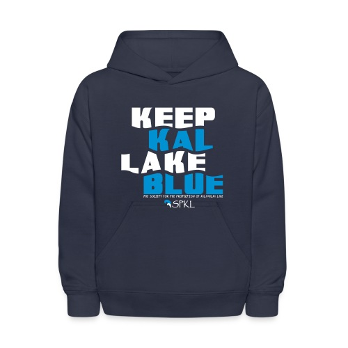 Keep Kal Lake Blue, Children's Navy Hoodie - Kids' Hoodie