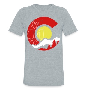 Colorado Outdoors - Unisex Tri-Blend T-Shirt by American Apparel