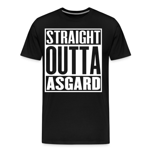 Mens Straight Outta Asgard T-Shirt - Men's Premium T-Shirt
