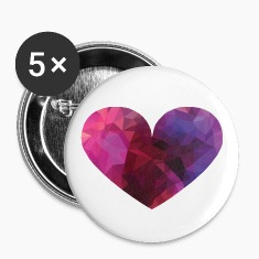 Polygon Heart Buttons