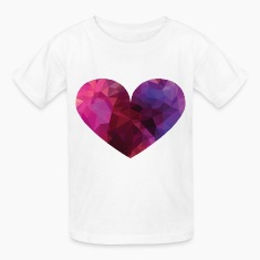 Polygon Heart Kids' Shirts