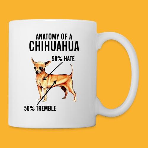 Anatomy of a Chihuahua 50% Hate 50% Tremble Mug - Coffee/Tea Mug