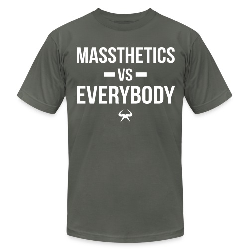 Massthetics vs Everybody - Men's T-Shirt by American Apparel