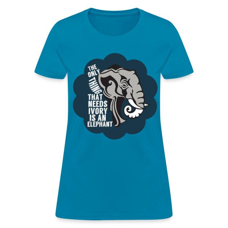 Elephant anti poaching t shirt spreadshirt for Elephant t shirt women s