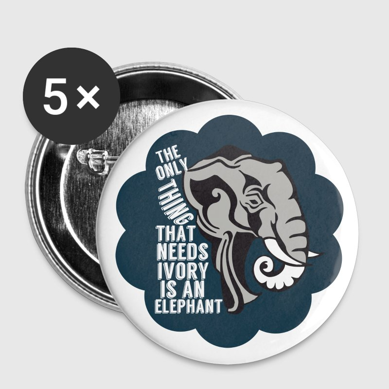 Save Elephants Not Ivory - Large Buttons