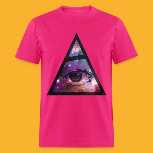 Hipster Pyramid Eye Shirt - Men's T-Shirt