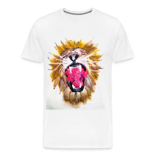 3d Lions Heart - Men's Premium T-Shirt