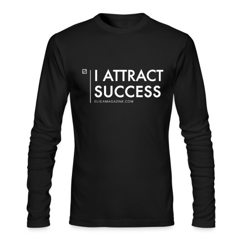 Elisia: I Attract Success Men's Fitted Long Sleeved Shirt - Men's Long Sleeve T-Shirt by Next Level