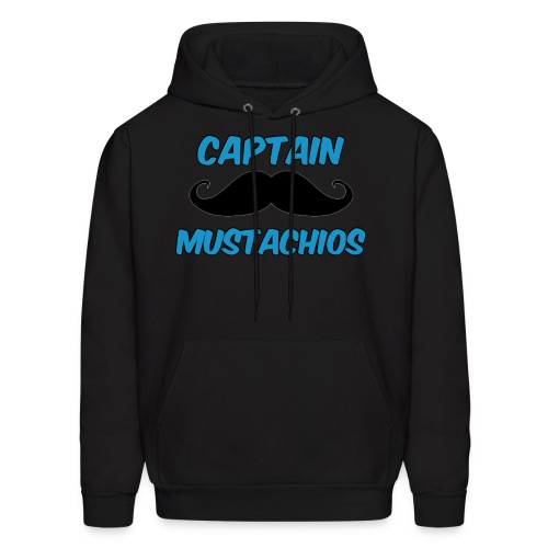 Captain Mustachios Men's Hoodie - Men's Hoodie